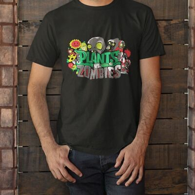 New Plants vs Zombies Short Sleeve Black Men's T-Shirt Size S-3XL