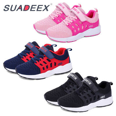 New SUADEEX Kids Boys Girls Breathable Sport Running Shoes Comfortable Sneakers