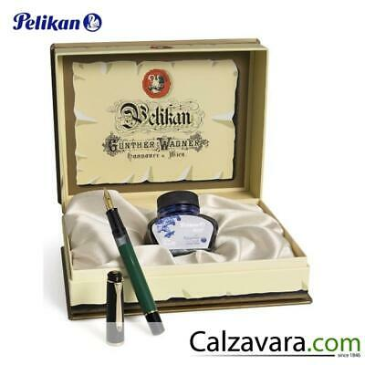 PELIKAN M151 Stilografica Verde e Nera in Cofanetto Regalo - Fountain Pen