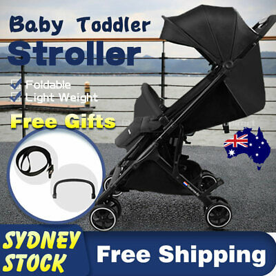 Compact Baby Prams Stroller Luxury Travel Lightweight Foldable Carry-on Plane AU