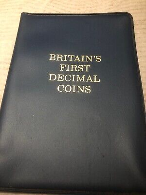 Britains First Decimal Coins Set! in display wallet...