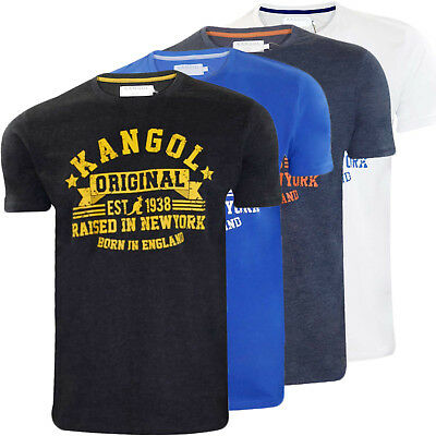 Mens Kangol T-shirt Branded Crew Neck Half Short Sleeve Top Casual UK Size