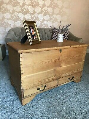 Antique Pine Mule Chest, Blanket Box, Coffee Table