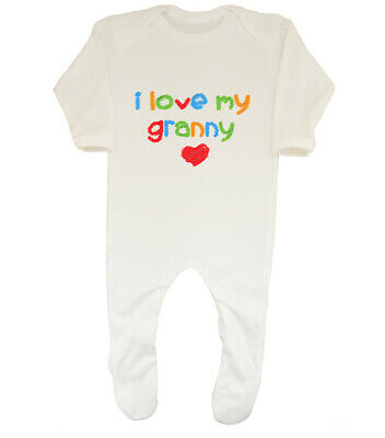 I Love my Granny Cute Boys Girls Baby Grow Sleepsuit