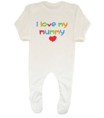 I Love my Mummy Cute Boys Girls Baby Grow Sleepsuit