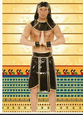 PVC Egyptian King of The Nile Outfit Costume L XL Mens Sexy Fetish Festival