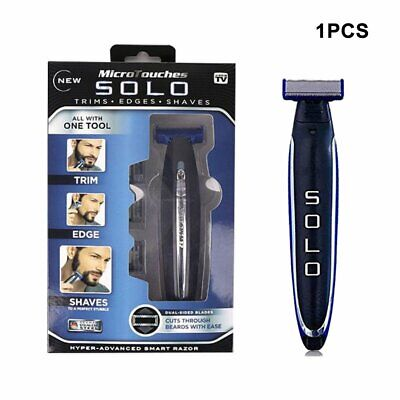 Men's Rechargeable Electric Razor Shaver Groomer Edge Trimmer Micro Touch SOLO