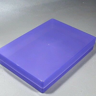 NEW A4 Translucent Purple Plastic Craft Paper Home / Office Storage Box
