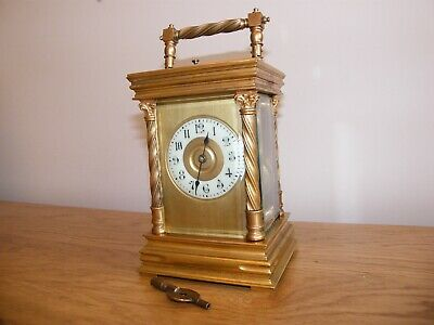 Large aesthetically superb 5 glass French repeating/striking carriage clock GWO
