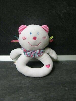 Security blanke Doudou musical ours blanc rose bleu P/'TIT BISOU AUBERT 17086