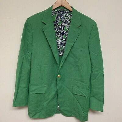 8a136bbc84e359 Lilly Pulitzer Mens Stuff Palm Beach Jacket Green Vintage 70s Blazer 40R