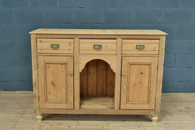 Antique Victorian 19th Century Stripped Old Pine Sideboard Dresser Base