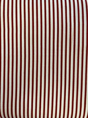 Fabric Freedom Patchwork Fabric - Red And White Stripe