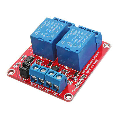 5V 2 Channel Level Trigger Optocoupler Relay Module For Arduino