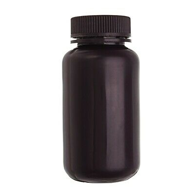 250mL PP Plastic Brown Bottle Wide Mouth Laboratory Sample Reagent Chemicals Sto