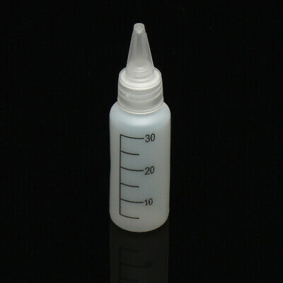 10Pcs 30mL Empty Quilling Bottle White Crafts Glue Painting Drawing Applicator B