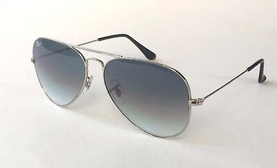 0dca53b7fd94 New Ray Ban Aviator RB 3025 003/32 silver/gradient gray sunglasses size 55mm