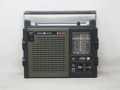 GENERAL ELECTRIC 7-2959A Multiband Transistor Radio Works Great! Free Shipping!