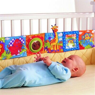 Educational Colorful Infant Cloth Book Bed Fabric Bumper Bedding Around Baby Toy
