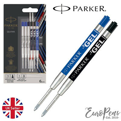 Parker Quink Gel Jotter Ballpoint Refill - Choose colour & discounted quantities