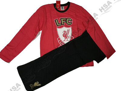 Boys Liverpool Reds FC Football Club Pyjama Set,Long Sleeve Nightwear/PJs 13 Yrs