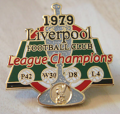 LIVERPOOL FC Victory Pins 1979 LEAGUE CHAMPIONS Badge Maker Danbury Mint