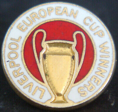LIVERPOOL FC Vintage EUROPEAN CUP WINNERS Badge Brooch pin In gilt 17mm Dia