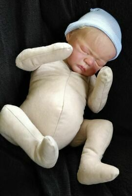 "Reborn Doe Suede Cuddle body *new design* bent arms and legs 22"" flesh"