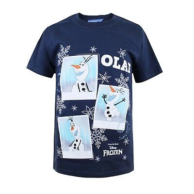 Disney Frozen Olaf Photoshoot Kids Boys Girls White T-shirt - Ages 3-10 -RRP £15
