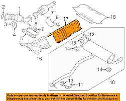Genuine New Land Rover Discovery Sport Rear Exhaust Heat Shield Lr000882
