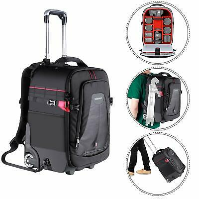 Neewer 2-In-1 Rolling Camera Backpack Trolley Case