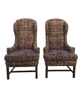 Vintage Wing Back Host Dining Chairs- a Pair