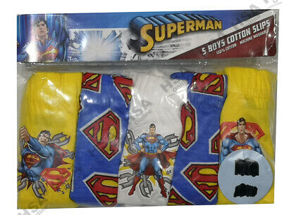 Boys Pants Briefs Slips Underpants Underwear - Superman - Pack of 5 - Age 4-5