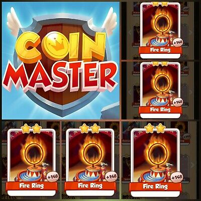 Coin Master Cards 5x Fire Rings (Fastest Delivery)