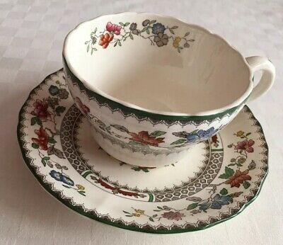 Spode Chinese Rose Breakfast Cup And Saucer