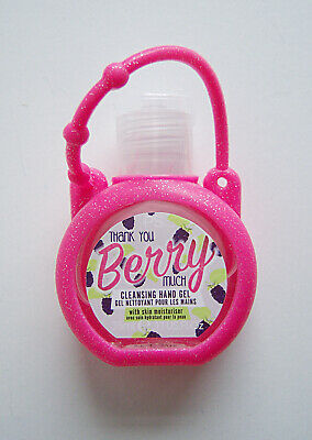 Berry Moisturising Antibacterial Hand Gel with Moisturiser Flexible Glitzy Clip