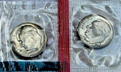 2 Coins *MINT CELLO*   **FREE SHIPPING** 1978 P /& D Roosevelt Dime Set