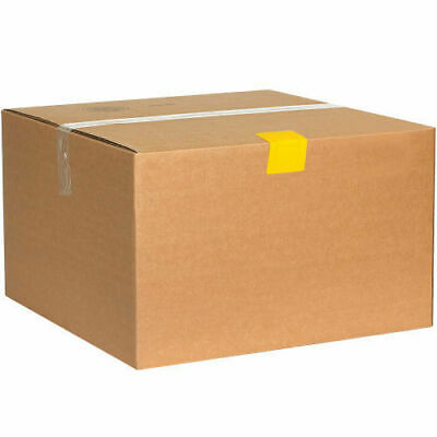 """2-1/2""""x2"""" Plastic Strap Guards, Yellow 1000 Pack, Lot of 1"""