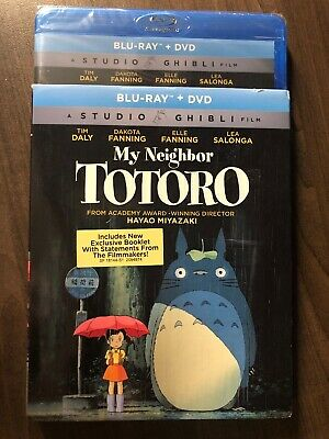 NEW My Neighbor Totoro Blu-Ray DVD w Slipcover Canada SEALED Studio Ghibli GKids