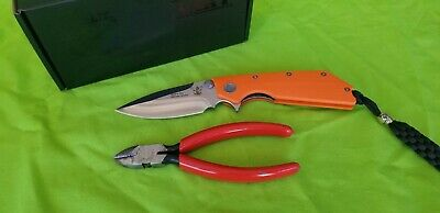 """Angry Anchor Knife & Tool AAKT """"DEVIL DOG"""" Autumn G10 with CTS-XHP made in USA"""