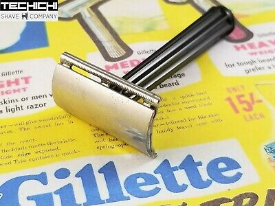 1952 X1 Gillette Bakelite Tech Vintage Double Edge Safety Razor
