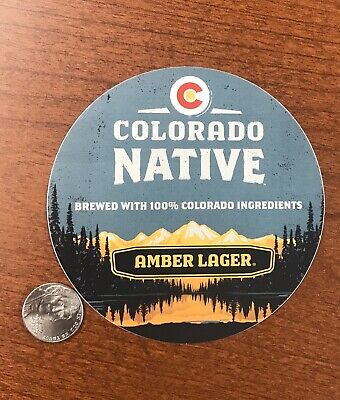 COLORADO NATIVE AMBER LAGER BREWERY BEER STICKER Brew Brewing Craft Decal Micro