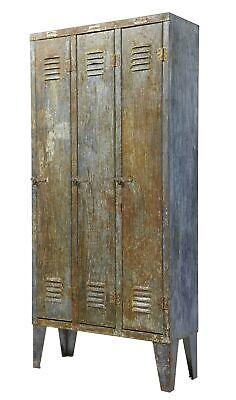 1960's DISTRESSED INDUSTRIAL LOCKER CABINET