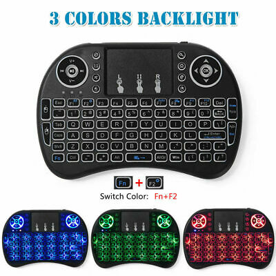Mini Wireless keyboard touchpad 3 Color Backlight Remote Controller For TV Box