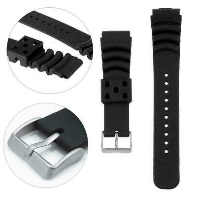 20MM/22MM raised mouth watch replacement strap waterproof rubber PU silicon N3N9
