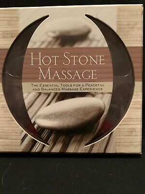 Sterling Innovations Hot Stone Massage 14 Flat Stones & 64 pg book NEW