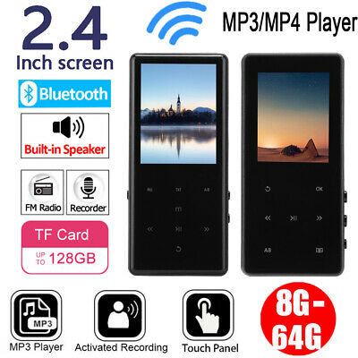 Mini MP3/MP4 Player Music Audio Video FM Radio 128GB TF USB Bluetooth Recording