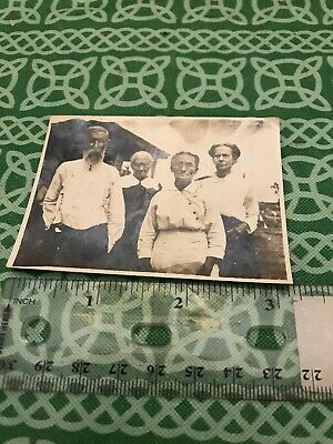 Antique Photo Of Two Old Couples Early 20th Century FREE SHIPPING