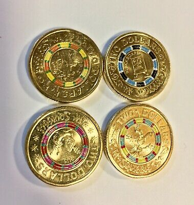 $2 Australian Coins Mr. Squiggle coin set Cir. Full Set Of 4. 2019