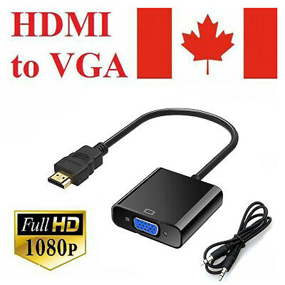 HDMI to VGA Data Cable Adapter with Audio Cable Video Converter For Xbox 360 PS3